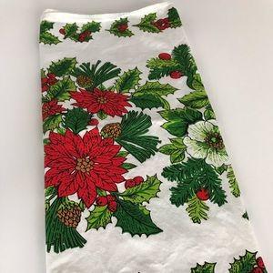 🇨🇦Vintage Cotton Christmas Print Tea Towel